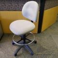 Tan Drafting Stool Chair, No Arms