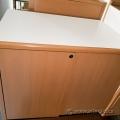 Simo Peanut 2 Door Wood Storage Cabinet w/ White Top