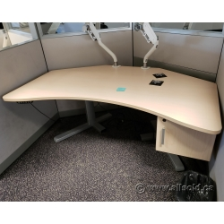 Steelcase Blonde Powered Height Adjustable Sit Stand Desk