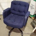 Wide Blue Rolling Office Chair