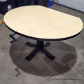 "Gunnar Blonde and Black Height Adjustable 42"" Meeting Table"