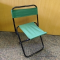 Set of 4 Green Fabric Portable Temporary Folding Outdoor Chairs