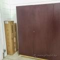 Mahogany 2 Door Built-In Storage Cabinet, Locking