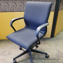 Fixed Height Black Steelcase Protege Office Meeting Chair