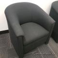 Black Bucket Style Reception Armchair