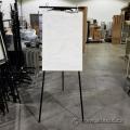 Black Tripod Easel Presentation Flip Chart Stand