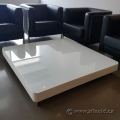 White Glass Top Lobby Coffee Table