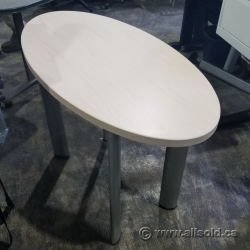 "42"" x 24"" Oval Meeting Training Table"