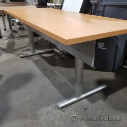 Folding  Maple Training Table w/ Privacy Screen 60x30