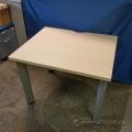 "36"" Blonde Rolling Training Desk Table"
