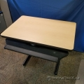 "36"" x 23"" Blonde Training Desk Table w/ Keyboard Tray"