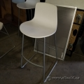 Steelcase White Stacking Bar Height Stool, Wipe-able