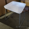 Steelcase white Bucket Chair Low Stool