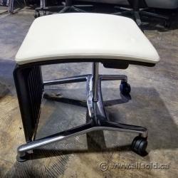 White Steelcase Footrest