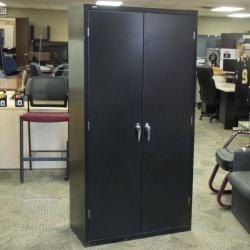 Hon Black Metal Adjustable 6 Shelf Storage Cabinet, Locking