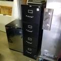 Black 4 Drawer Letter Hon Vertical File Cabinet, Locking