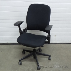 Steelcase Leap V2 Black Adjustable Ergonomic Task Chair w Arms