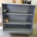 Grey Metal 3 Shelf Bookcase