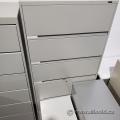 Global Grey 6 Drawer Flip Front Lateral File Cabinet, Locking