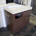 Mobile Cafeteria Cart w/ White Corian Counter Top
