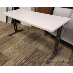 "Herman Miller White Training Table w/ Power 60"" x 24"""