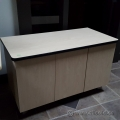 Global Blonde 3 Door Side Bar Credenza