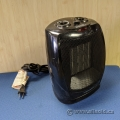 Black Pro Fusion Heat Oscillating Space Heater Fan