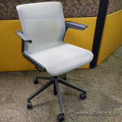 Silver Mesh AllSteel Clarity Office Meeting Chair w/ Fixed Arms