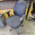 Black Adjustable Office Task Chair w/ Padded Arms
