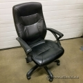 Black Leather Office Task Chair