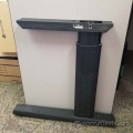 Black Simo Height Adjustable Table Desk Leg