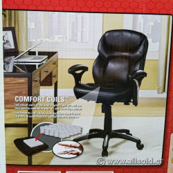 Black High Back Adjustable Meeting Chair with Fixed Arms (New)