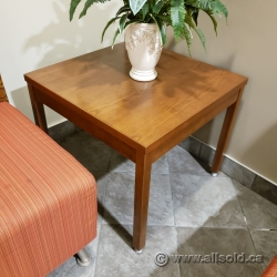 "24"" Square Brown Side End Table"