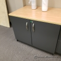 Artopex Grey 2 Door Storage Cabinet with Light Tone Top, Locking
