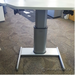 Steelcase Airtouch Sit Stand Height Adj Desk Base Only, Straight