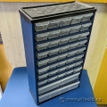 Vertical 43 Slot Plastic Parts Cabinet 12.5 x 20.5 x 6