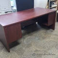 Mahogany Desk w/ Box File Ped and Client Knee Space, 72x36