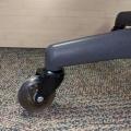 "3"" Hardwood Rubber Chair Caster Castor Wheels, Set of 5, 11 mm"