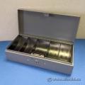 MMF Industries Steelmaster Cash Box With Lock, Steel - Gray