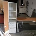 Haworth White and Light Maple Wardrobe Storage Cabinet