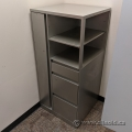 Steelcase Pewter Storage Tower with Wardrobe, Shelving, Filing