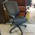 Black High Back Office Task Chair w/ Fixed Arms