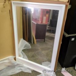 """Mirror with White Frame 29"""" x 44"""""""