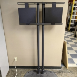 Dual Post Low Profile Premier TV Mount with Stand