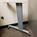 Grey Table Leg w/ Lockable Wheel