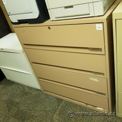 """Tan 4-Drawer Card Cabinet 8"""" Drawers, Tool Machinist Cabinet"""