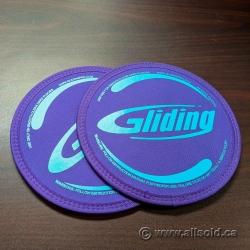 Set of 2 Exercise Gliding Discs for Hard Floors