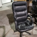 Fixed Height High Back Leather Office Meeting Chair