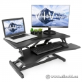 Vivo Black Height Adjustable Sit/Stand Desk Riser - NIB