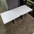"White 72"" x 29.5"" Sit Stand Desk Table Surface"